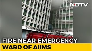 Fire Near Emergency Ward At AIIMS Hospital In Delhi, Fire Engines At Spot