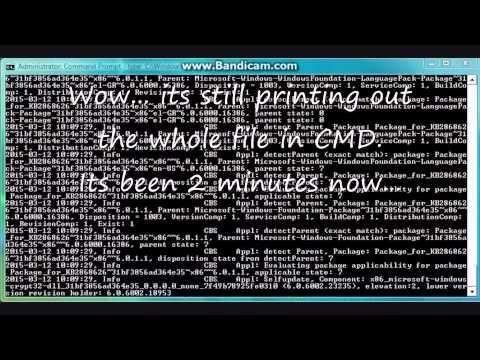 The longest file read in CMD! (CBS Log)