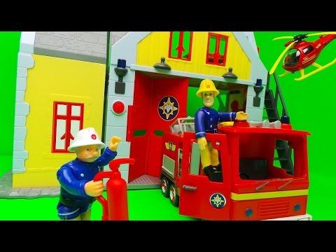 Feuerwehrmann Sam RettungsStation Fireman Sam SIMBA Fire Station Toy Unboxing