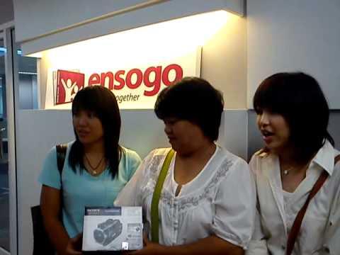 Ensogo สัมภาษณ์ ผู้โชคดีได้รับกล้อง Sony HD