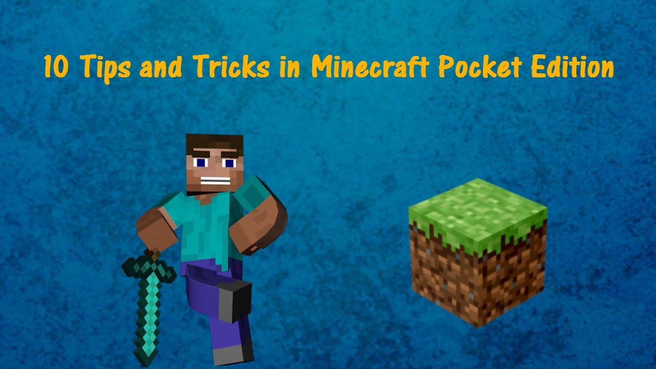 Minecraft Creative Tips Tricks: 10 TIPS AND TRICKS In Minecraft PE