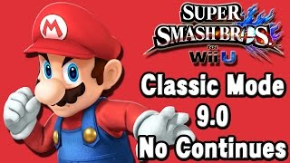 Super Smash Bros. For Wii U (Classic Mode 9.0 No Continues | Mario) 60fps