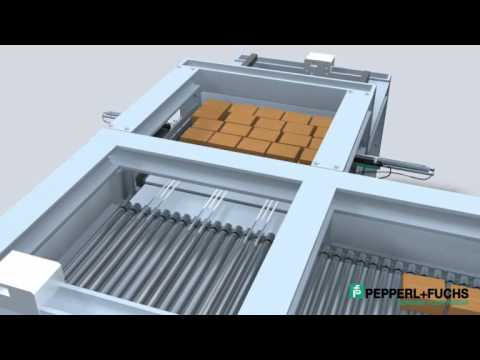Palletizing Systems - Material Handling with Linear Measurement Sensors