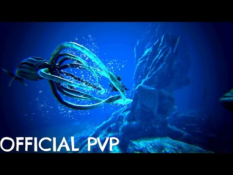 TAMING THE GIANT SQUID (Tusoteuthis) Best Underwater Mount - Official PVP (E72) - ARK Survival