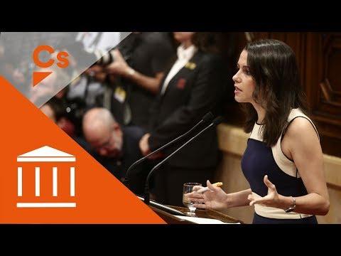 Inés Arrimadas. Intervención en pleno del Parlament sobre artículo 155 thumbnail