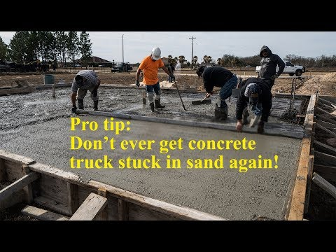 How to pour a flat concrete slab - Texas Barndominiums Episode 14