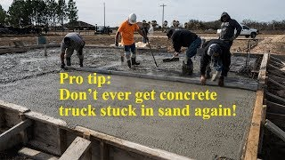 How to pour a flat concrete slab - Texas Barndominiums Episode 14