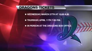 Dragons Single-Game Ticket Sales begin Wednesday for General Public