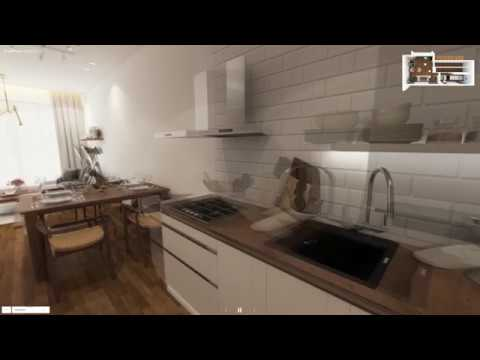 Waterfront Gold, 667sqft, 1-Bedder+Study, 3D Walkthrough