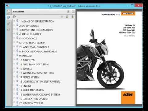 KTM Duke 390 (2013) - Service Manual - Wiring Diagram - YouTube