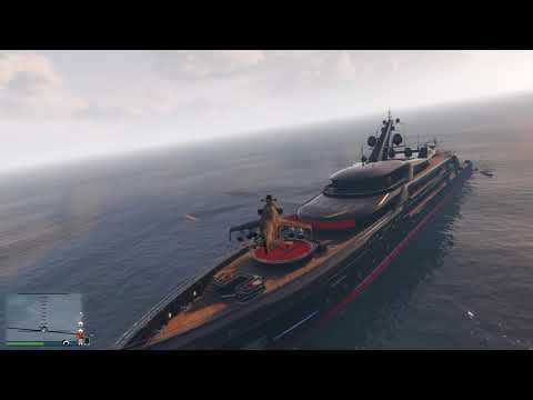Grand Theft Auto V_note to self #don't move yacht with other chopper on board