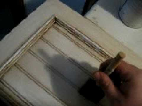 Glazing Cabinet Doors Pt2 Youtube