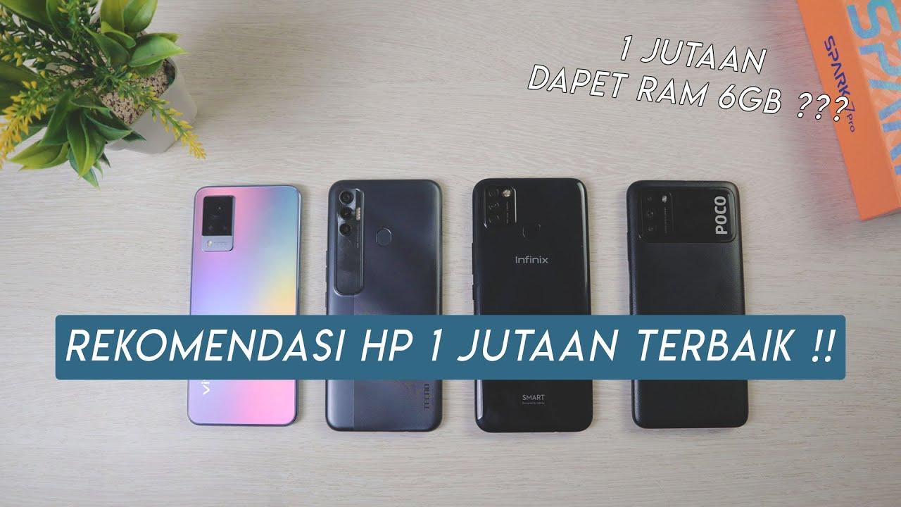 REKOMENDASI HP 1 JUTAAN TERBAIK JUNI 2021 | RAM 6GB!!!