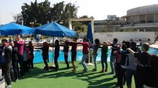 SSS delegation doing the Macarena
