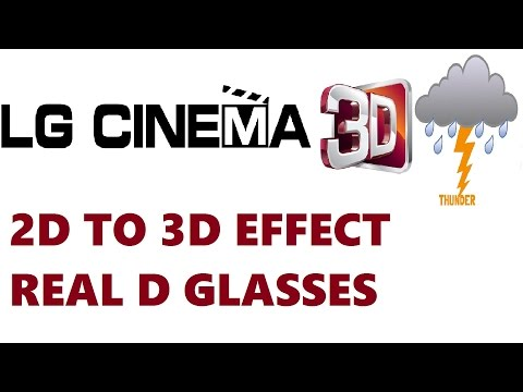 2D TO 3D Effect - Demo Using Real D Glasses -  LG WebOs Led Tv India - 2017