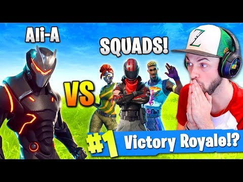 Ali-A - SOLO vs SQUADS in Fortnite: Battle Royale!