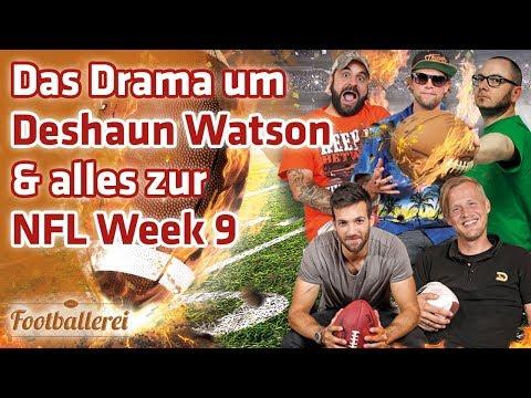 Das Drama um Deshaun Watson & alles zu NFL Week 9  | Footballerei SHOW