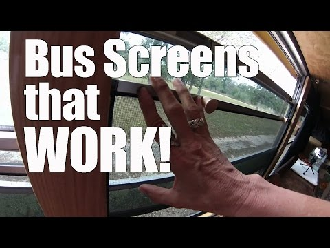 Short Bus Conversion - window screens that WORK
