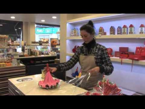 bouquet de fleurs en chocolat leonidas