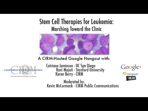 Stem Cell Therapies for Leukemia: Marching Toward the Clinic