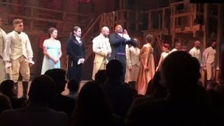 'Hamilton' cast delivers message to VP Pence