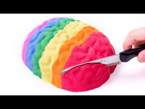 DIY Baby DIY How to Make 'Kinetic Sand Colors Human Brain Cake' Baby Learn Colors Glitter Sand Ice Cream