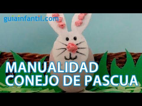 Conejo De Pascua Manualidad Con Huevo Para Niños