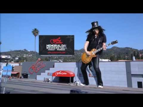 Guitar Center commercial with Slash (2010)