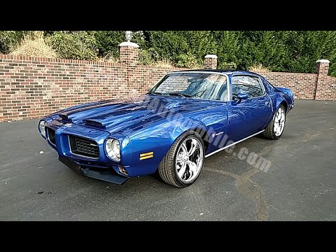1973 Pontiac Firebird Candy Blue For Sale Old Town