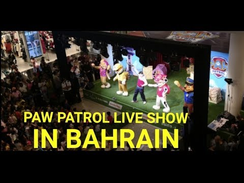 paw patrol live show in city centre bahrain | entertainment | festival | events| travel vlogs