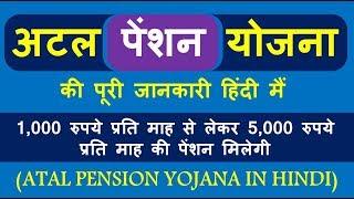 अटल पेंशन योजना के बारे में पूरी जानकारी (Atal Pension Yojana in Hindi) अटल पेंशन योजना