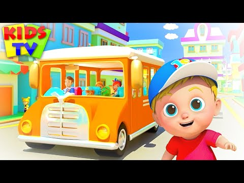 The Orange Wheels On The Bus | Nursery Rhymes & Baby Song From Kids TV