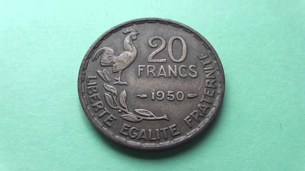 Liberte Egalite Fraternite Die Alte 20 Francs Münze Aus Frankreich