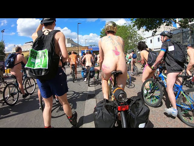 WNBR London 2019 rider's view Waterloo bridge -