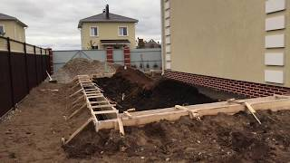 Фундамент как правильно сделать - Фундамент разметка и копка с установкой опалубки и армирование