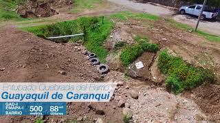 Entubado de la quebrada que cruza el Barrio Guayaquil de Caranqui.