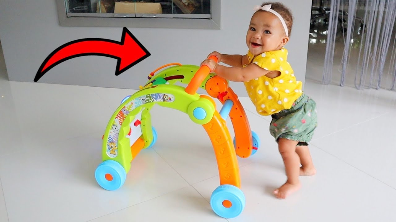 Baby Sister Learns How to Walk! FamousTubeKIDS