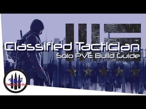 Classified Tactician - The Demolition Expert - Solo PVE Build