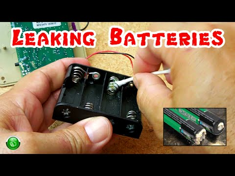 EASILY Clean Battery Leak Damage In Electronics