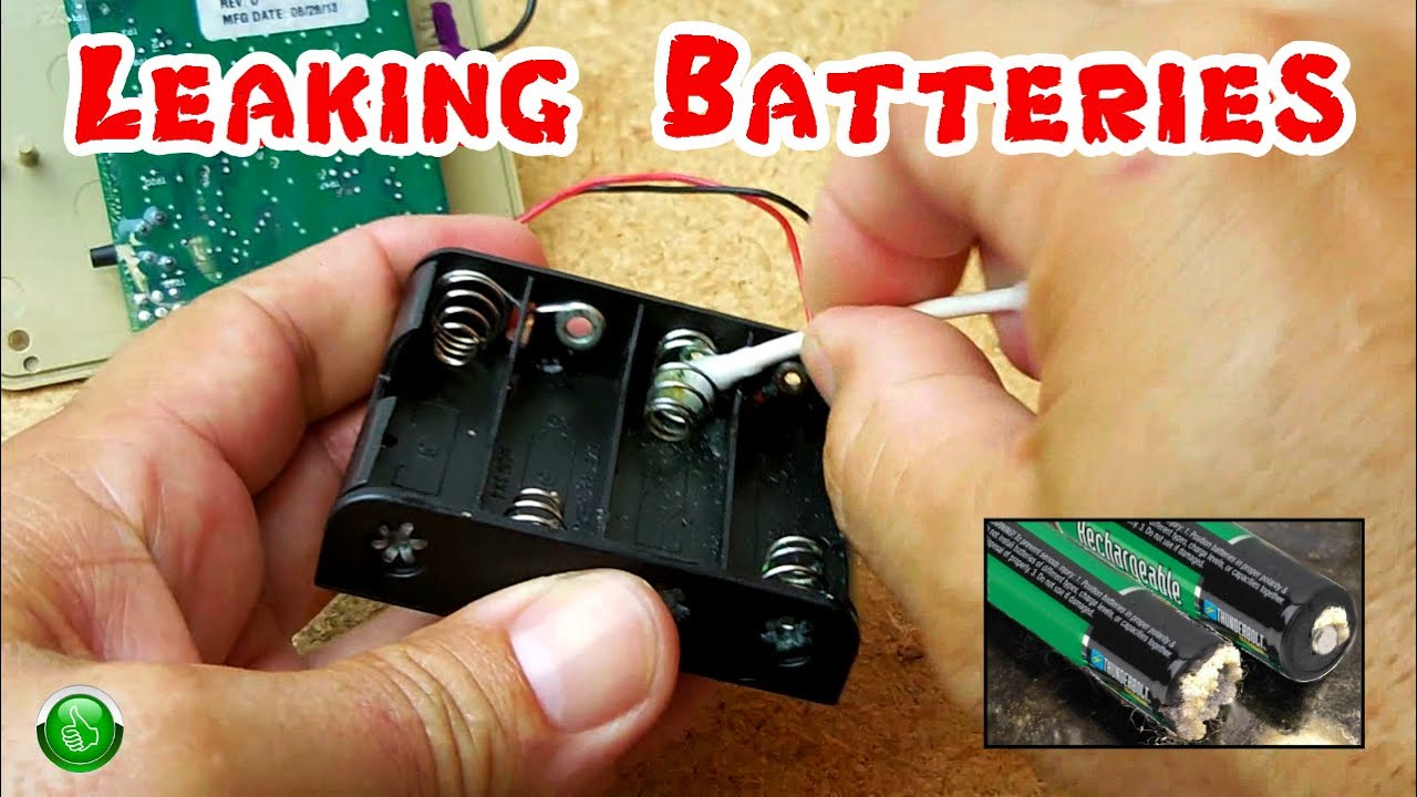 Easily Clean Battery Damage In Electronics Youtube Using Body Fluids