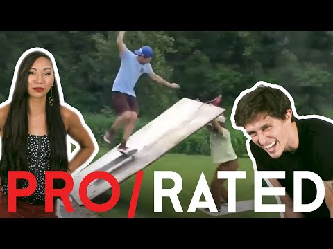 Athletes React: Rock Climbing, Ninja Course Runs & More (ft. Bonus Footage!) | Pro/Rated