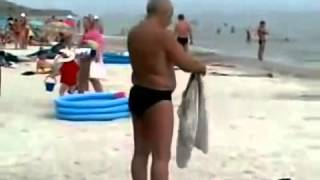 На синем море Русские на пляже Ржака Приколы
