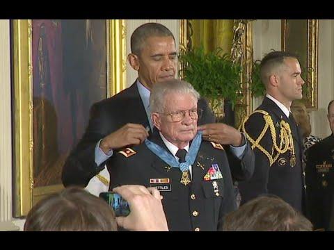 Vietnam Vet Awarded Medal Of Honor At White House