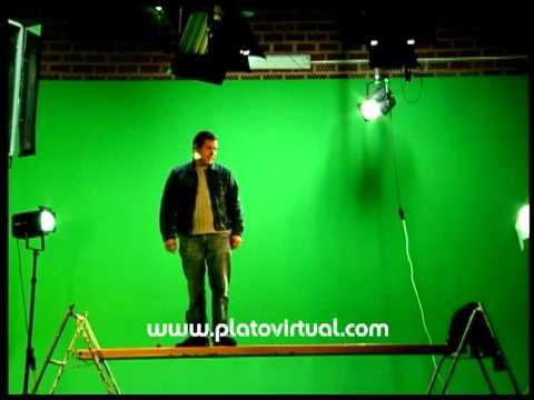 PLATÓ DE CROMA - PLATÓ VIRTUAL - Plató de televisión con decorados virtuales - chroma key