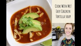 Pressure Cooker Chicken Tortilla Soup | Cook With Me! | Cosori Pressure Cooker Review