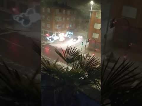 Brutal tormenta de nieve en León