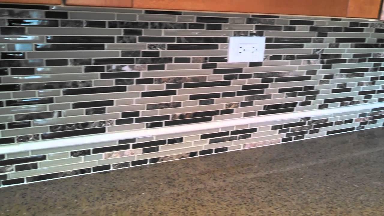 Marble Tile Kitchen Backsplash Glass Marble Mixed Mosaic Tile Kitchen Backsplash Tile By