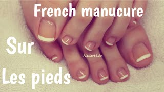 [ Tutoriel nail art 42 ] : French pied au vernis permanent
