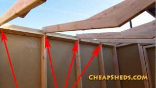 How To Frame Your Shed Roof Video