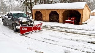 Believe it or NOT! It's Already that TIME. (First Time SnowPlowing)